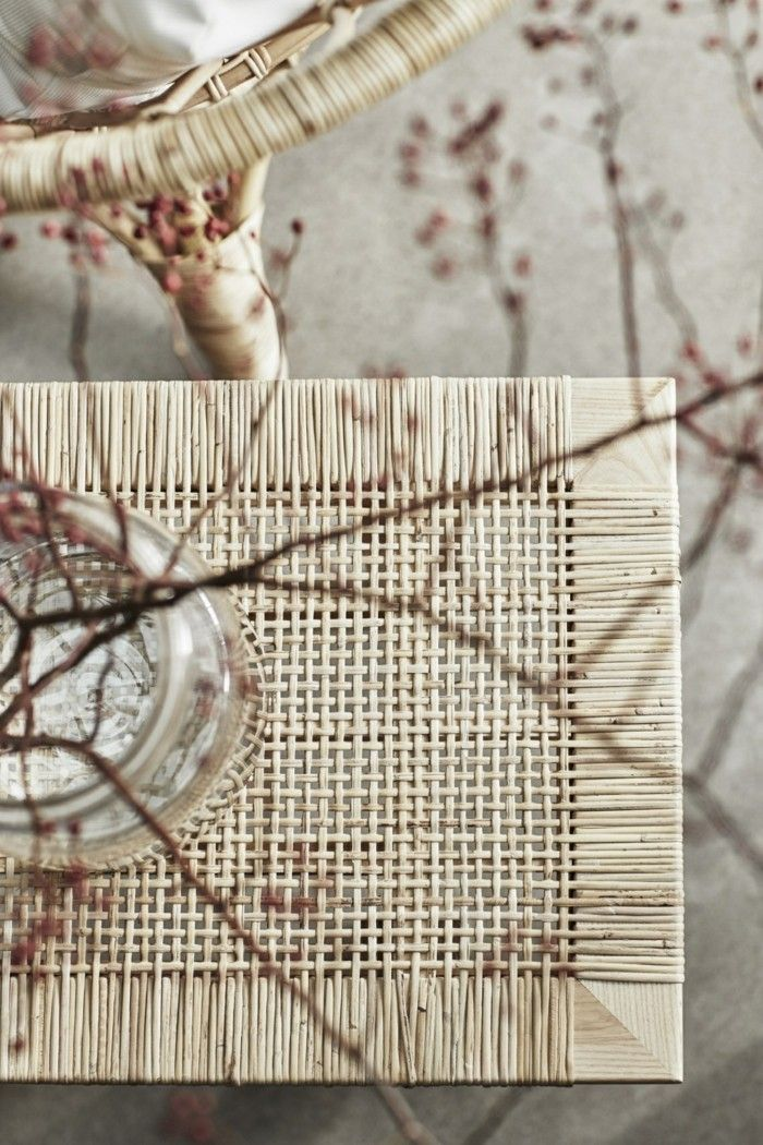 naturmaterialien rattan couchtisch sessel ikea stockholm
