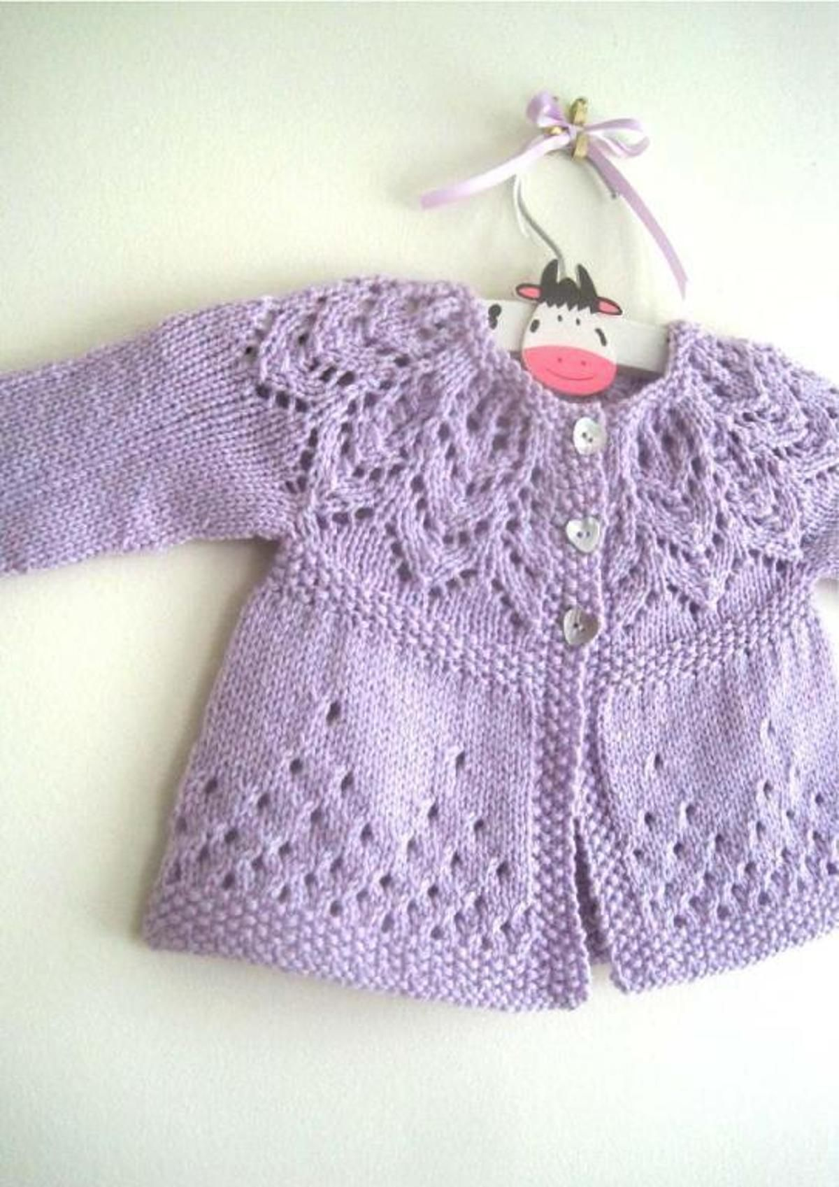 Evie Cardi - in 7 sizes | Babies, Knitting patterns and Baby sweaters