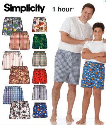 b54631f69e Plus Size SHORTS Sewing Pattern - Easy Boys & Mens Boxer Shorts - Sizes to  5XL