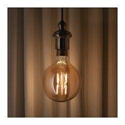 Lunnom Led Lamp E27 400 Lumen Dimbaar Globe Bruin Helder Glas