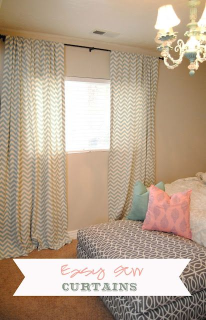 Easy Sew Curtains (I love it because you can pick any pattern of ...