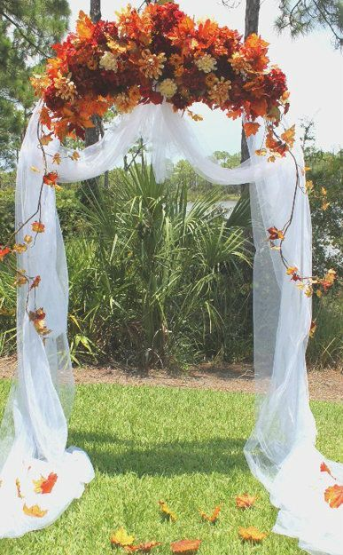 36 Fall Wedding Arch Ideas for Rustic Wedding | Jasmine\'s Wedding ...
