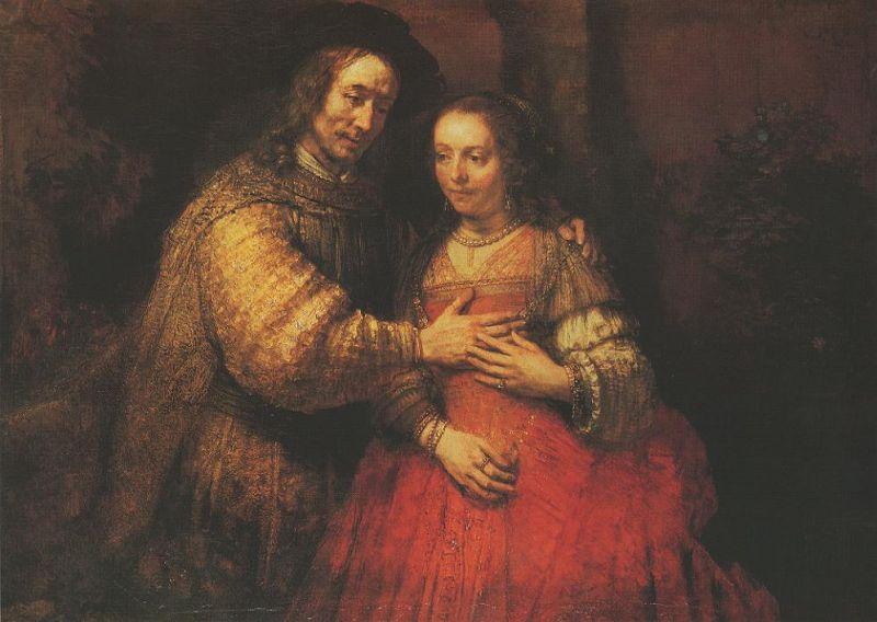 Reproduction Tableau De Rembrandt The Jewish Bride 121x166cm Rembrandt Reproduction De Tableaux Peindre Un Tableau