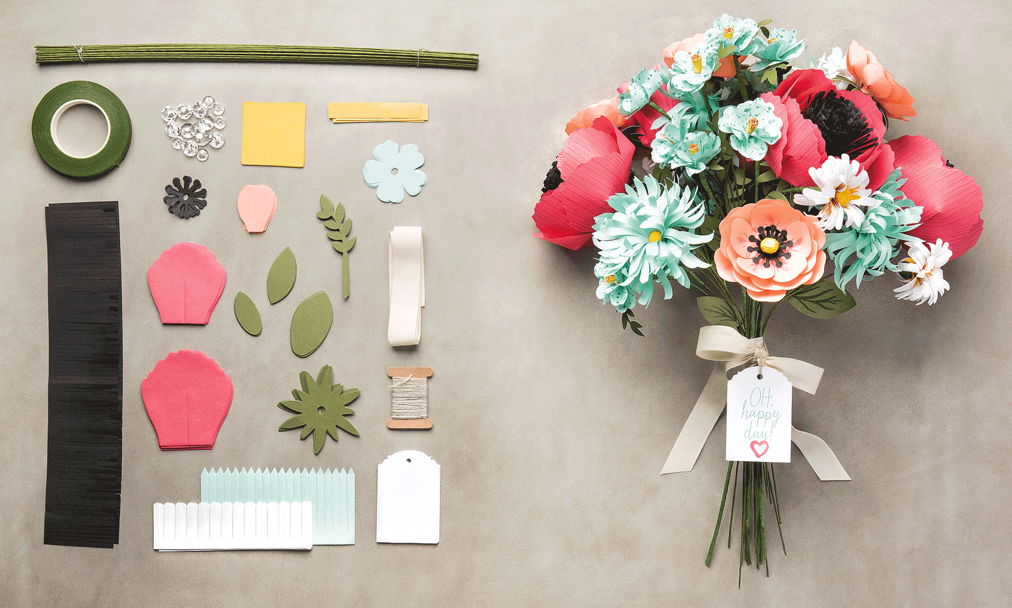 Do you love paper flowers as much as we do you can make a whole do you love paper flowers as much as we do you can make a whole bouquet of them with the build a bouquet kit izmirmasajfo
