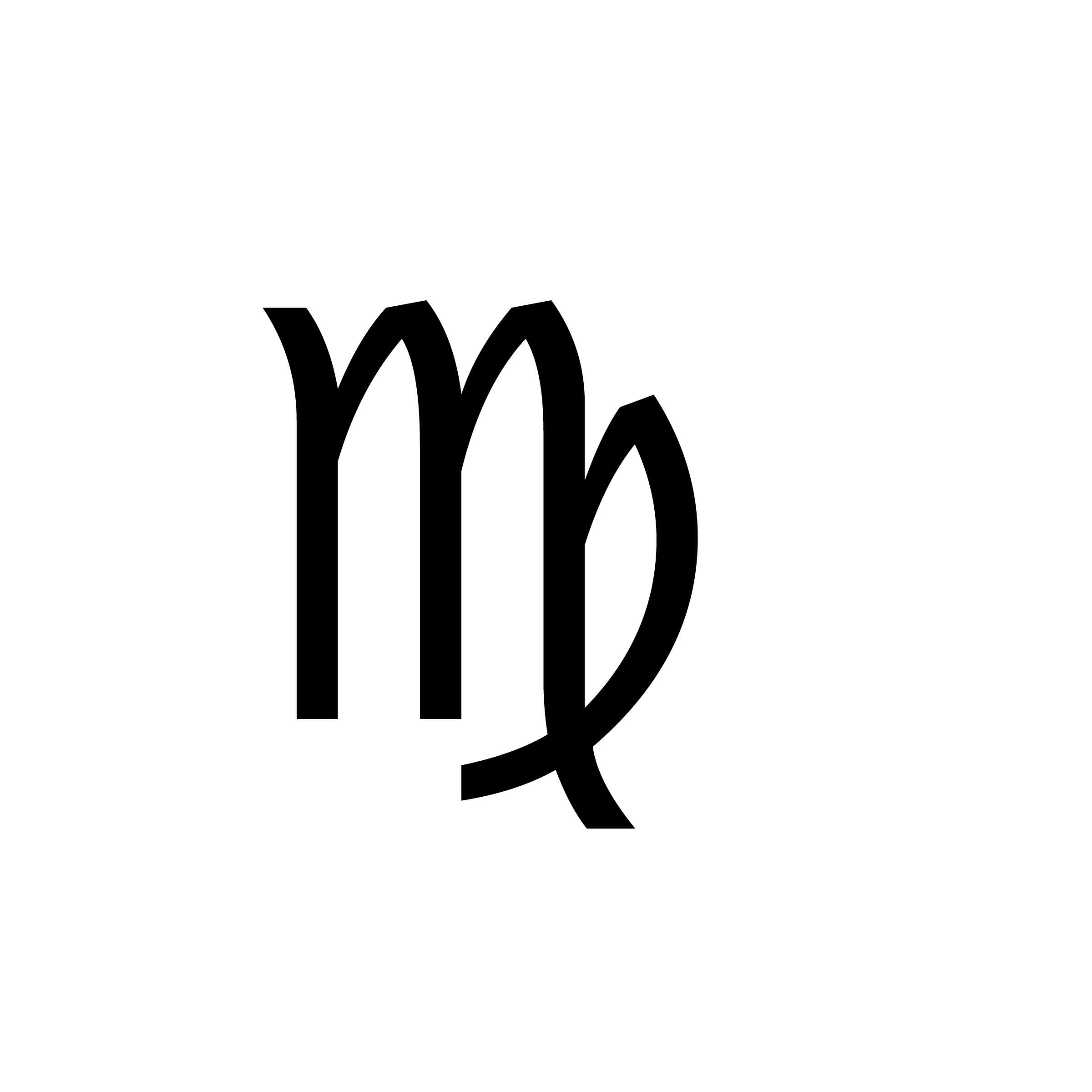 The symbol of a virgo born in the third decan tattoos symbols biocorpaavc Image collections