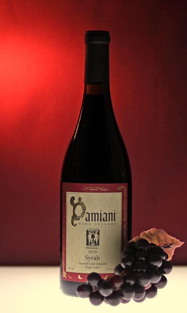 Damiani Wine Cellars Syrah Finger Lakes Wine Bottle Wine Wine Time