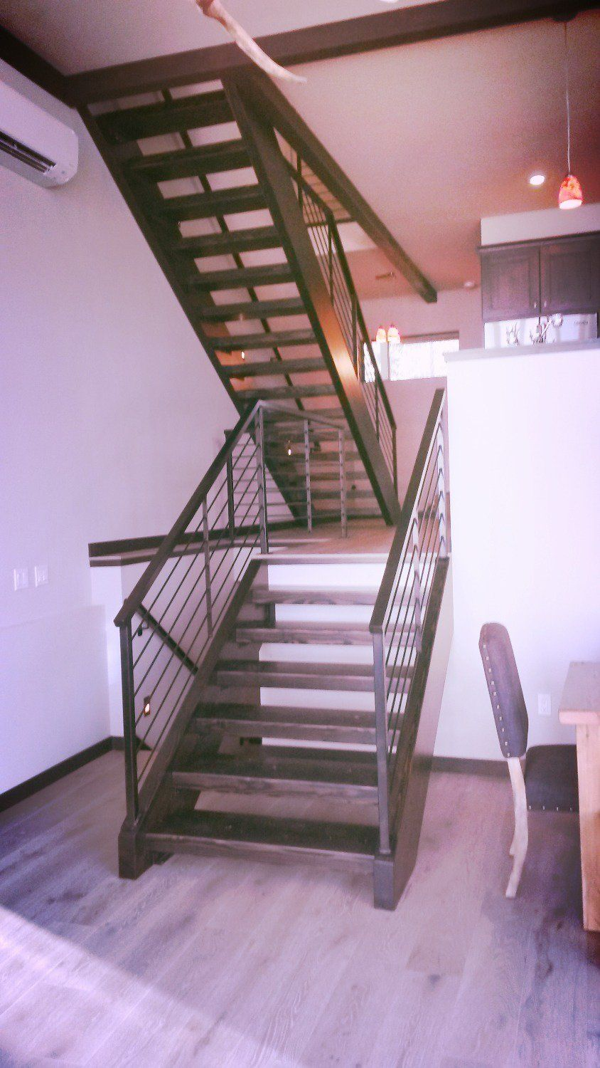 Beautiful Custom Stair Stringers And Handrail. Fabrication By Louu0027s Welding U0026 Repair,  LLC. Sandpoint