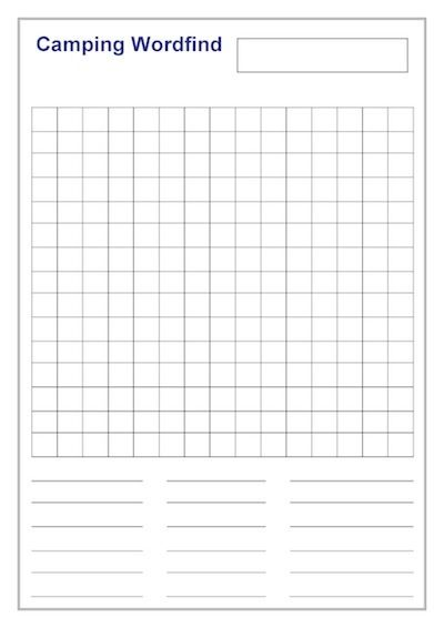 camping-wordfind Printables\/Templates Pinterest Camping - fundraising forms templates