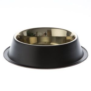 Top Paw® Black Steel Design Dog Bowl   Food & Water Bowls   PetSmart