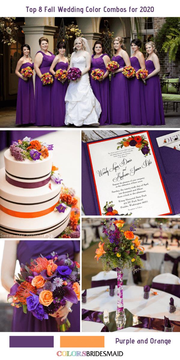 Top 8 Fall Wedding Color Combos for 2020 Fall wedding