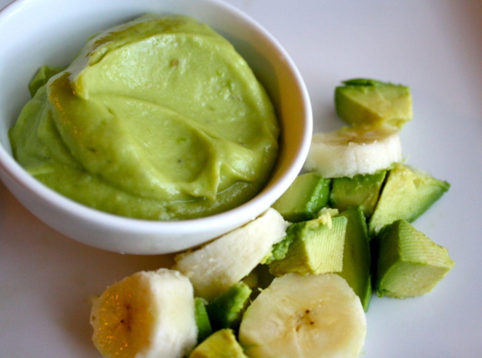 Avocado banana babyfood recipe baby food recipes