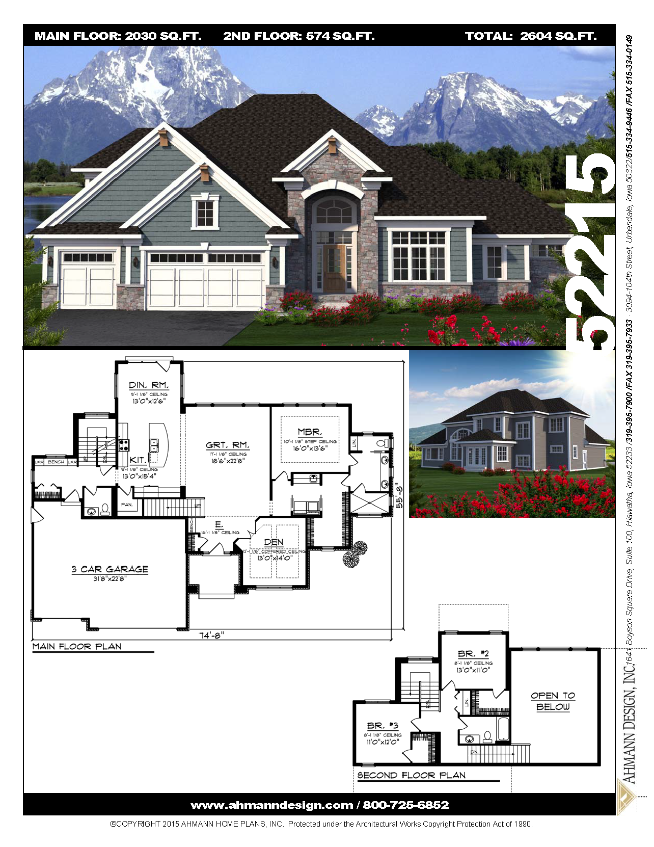 52215 House Plans Floor Plans Story House