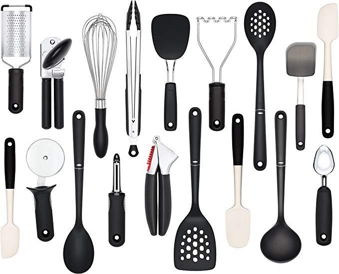 Amazon Com Oxo Good Grips 18 Piece Everyday Kitchen Tool Set Home Kitchen Kitchen Tool Set Kitchen Utensil Set Utensil Set