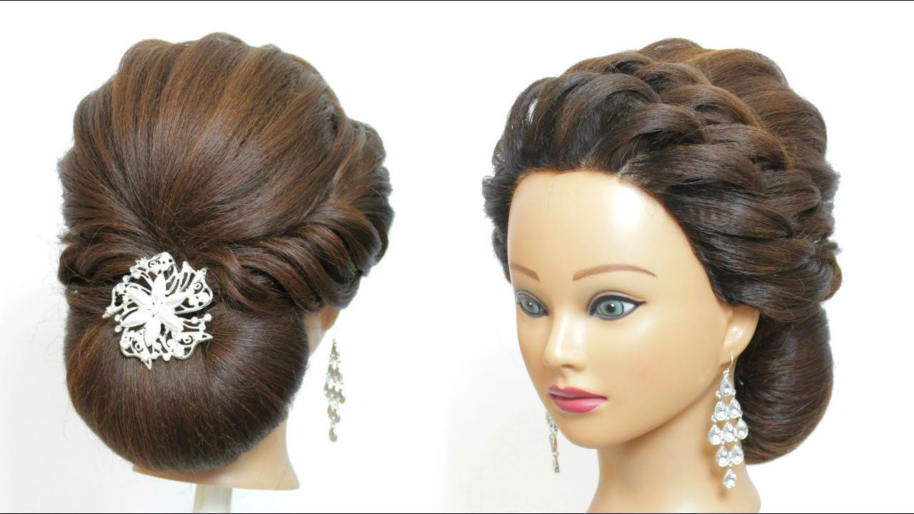 low bun hairstyle for party. hair tutorial. easy updos