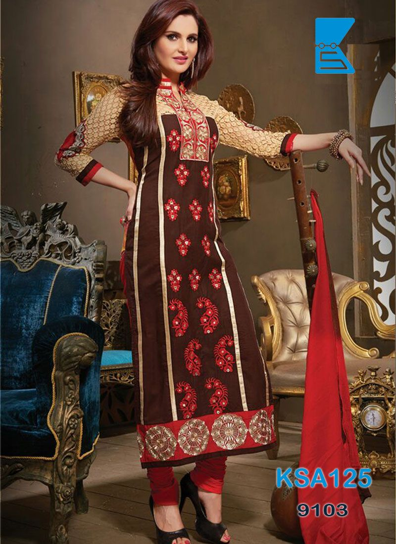 Best dresses to wear to a wedding reception  KING SALES NEW ARRIVAL BROWN AND RED COTTON EMBROIDERY STRAIGHT CUT