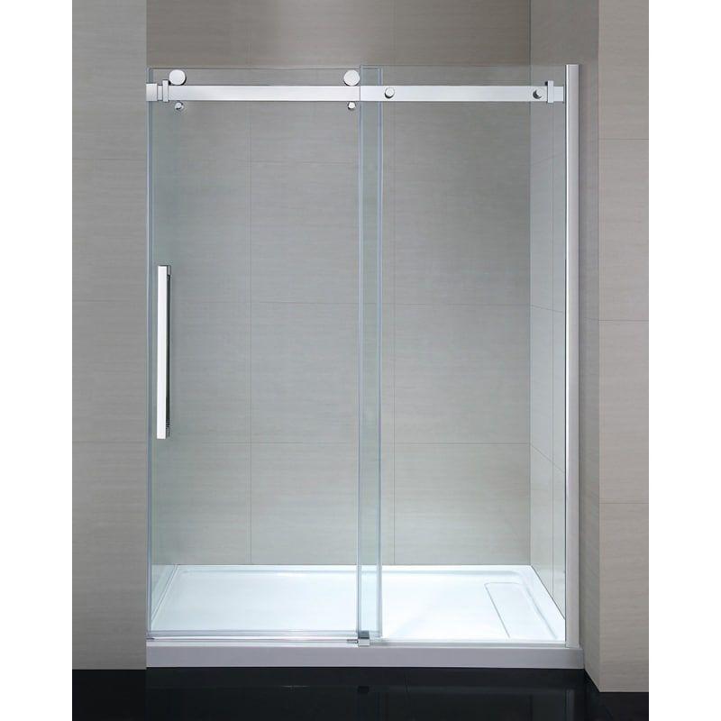 Ove Decors Sierra 60 Sierra 78 3 4 High X 58 3 16 Wide Sliding Frameless Showe Clear Chrome Showers Shower Doors Frameless Shower Doors Sliding Shower Door