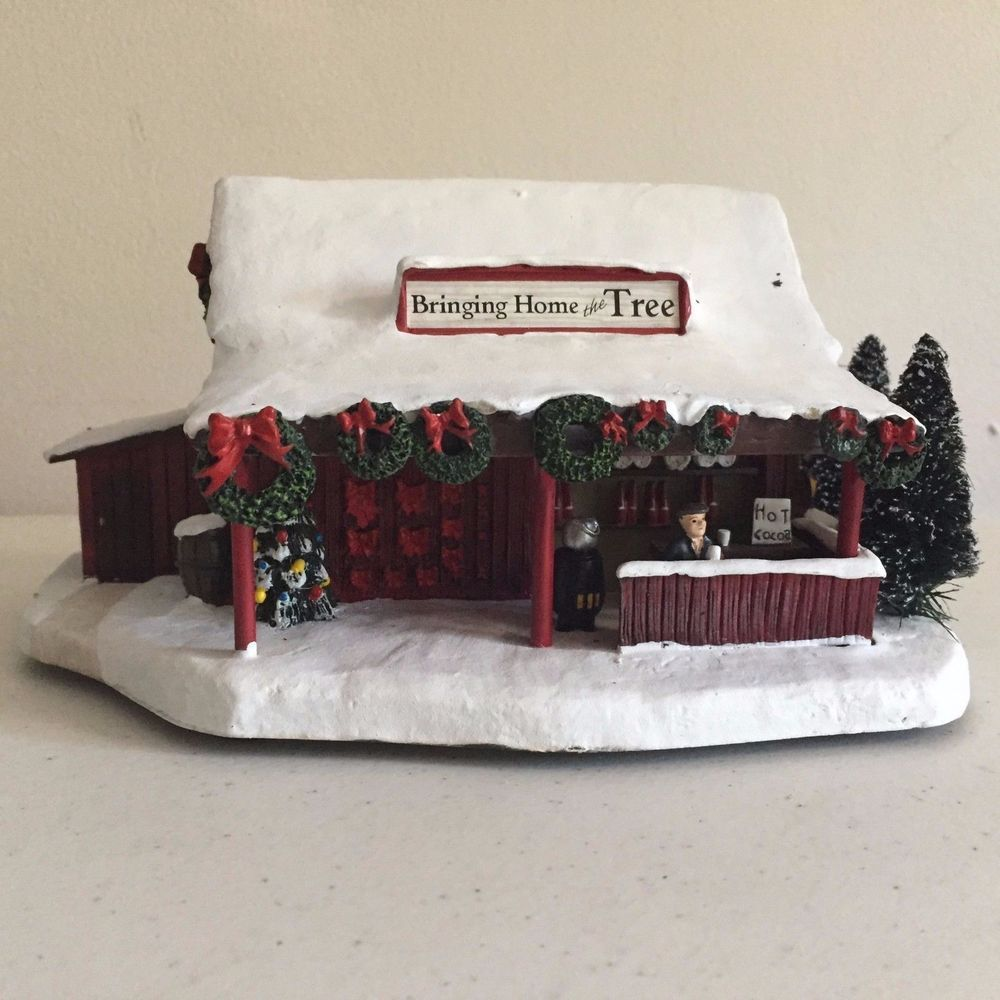 Norman Rockwell Christmas Village Collection 2005 Bringing Home the ...
