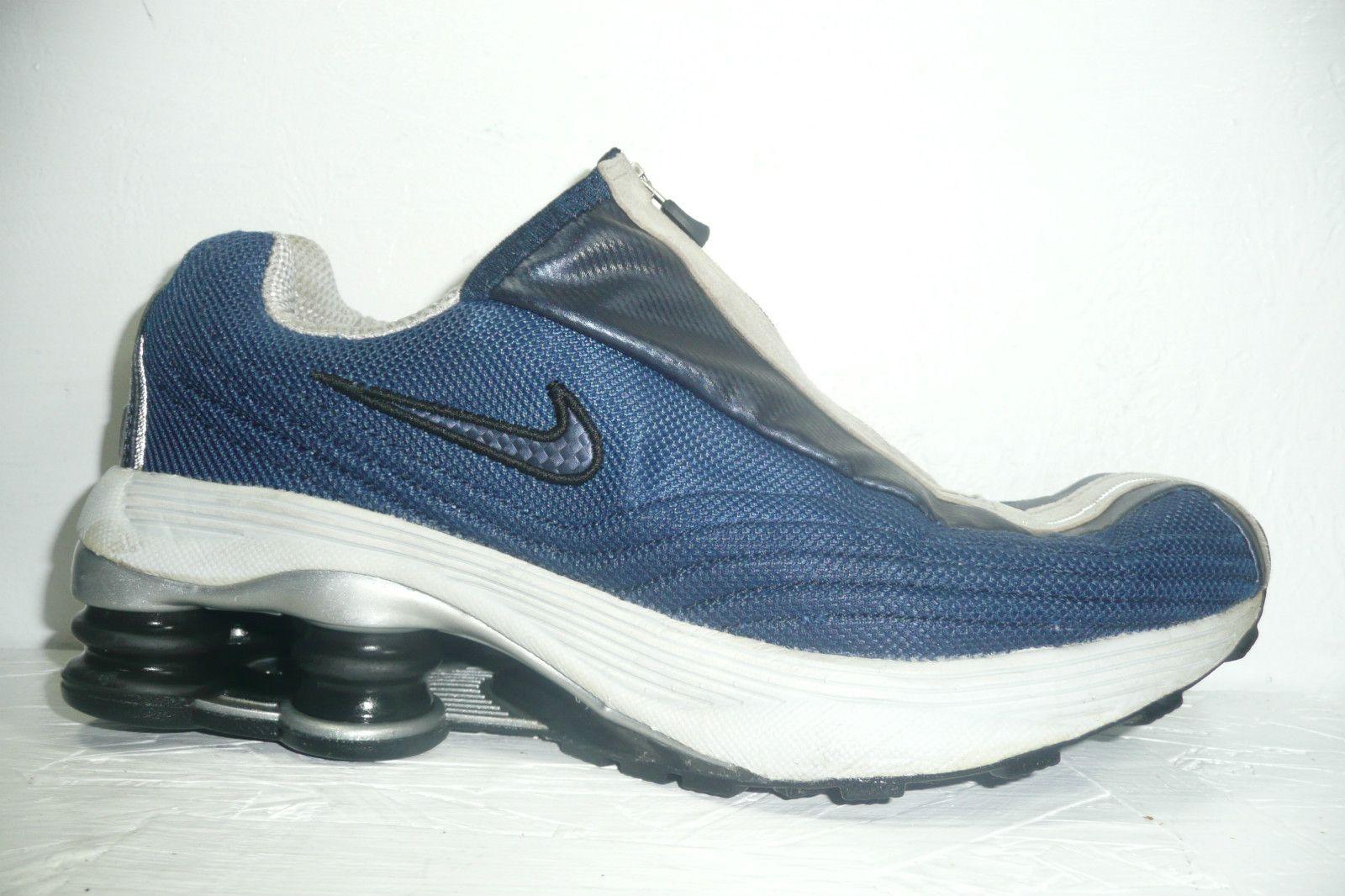 Nike Shox R4 Plus + Silver Red Running Shoes size 11 104311-101 Original  Shox • $54.99