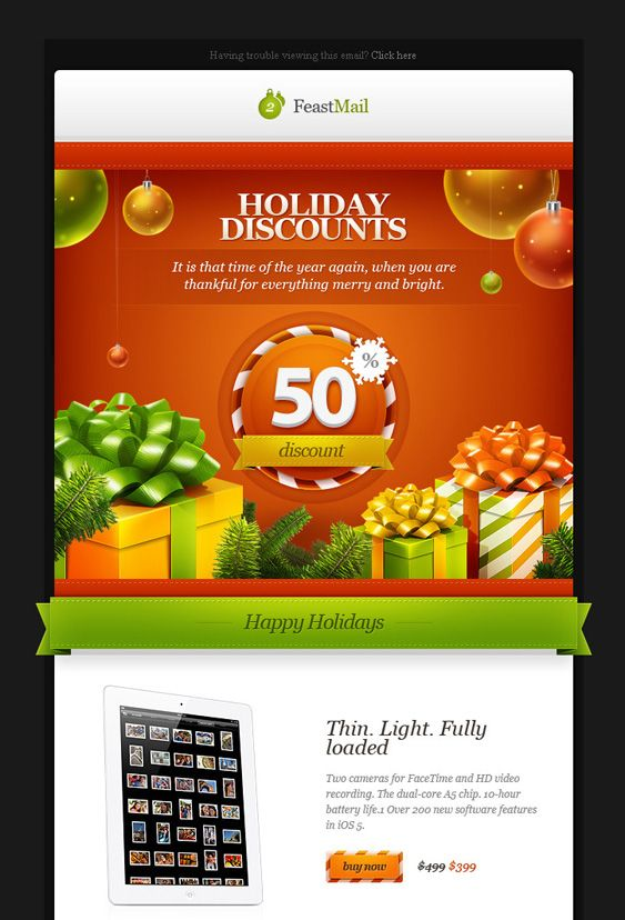 This Christmas email newsletter template comes with layered and ...