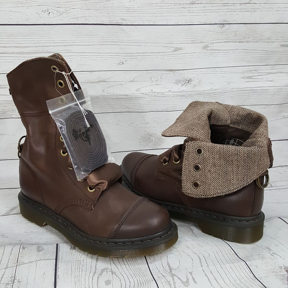 Details Leather Triumph About DrDoc Fold Martens Brown CdoQErxeBW