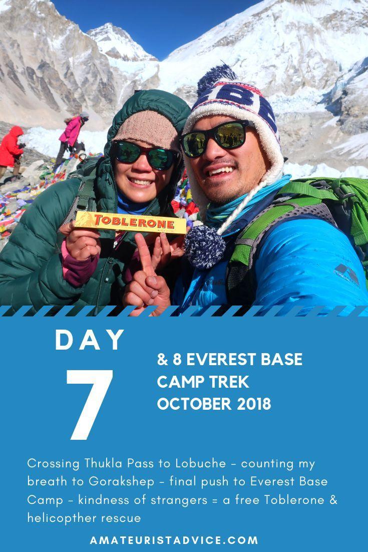 Everest base camp trek day 7 lobuche day 8 gorakshep