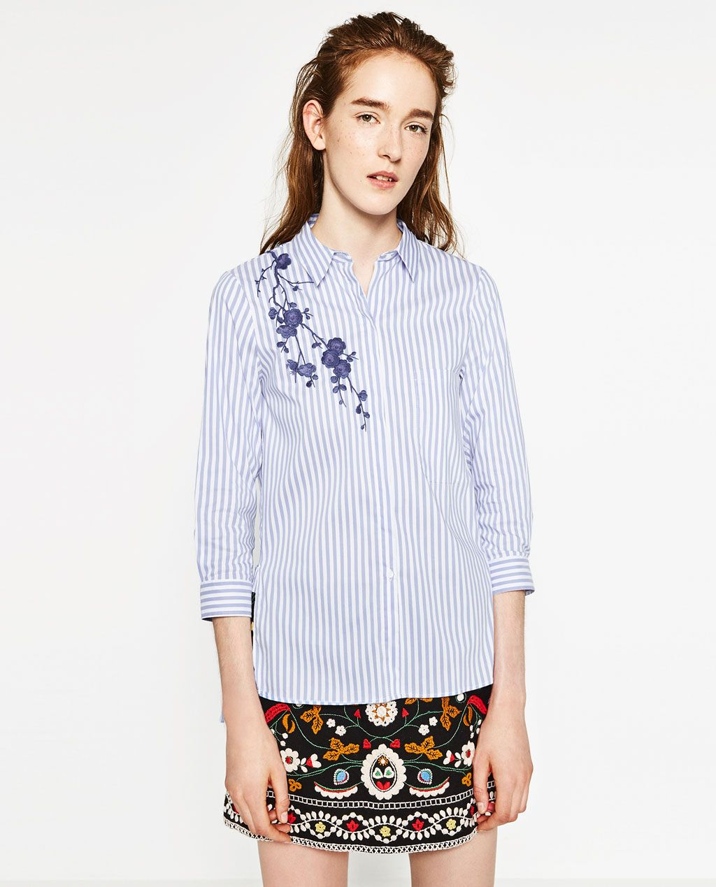 ce8441f32dae EMBROIDERED SHIRT-View all-TOPS-WOMAN | ZARA United States ZARA Camisas  Bordadas
