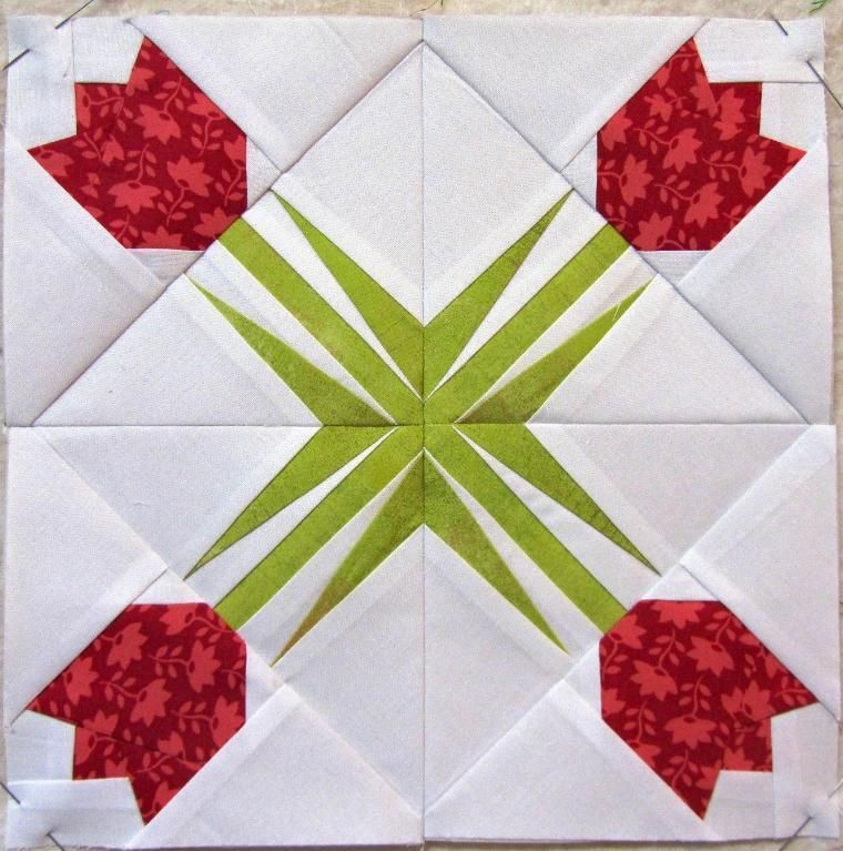 Free Quilt Pattern Twinkling Tulip Paper Piecing Quilts Foundation Paper Piecing Patterns Paper Pieced Quilt Patterns