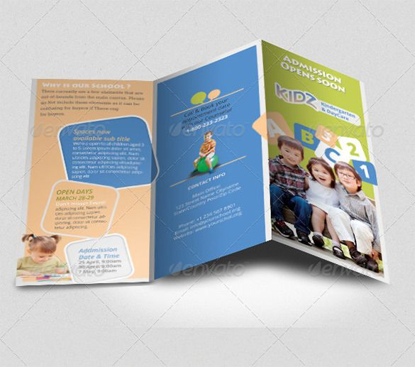 21+ Kindergarten Brochure Templates u2013 Free PSD, EPS, AI, InDesign - free bi fold brochure template word