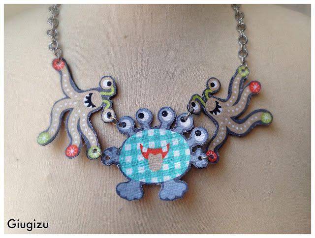 Giugizu's corner: The Halloween serie Cute Monsters themed handmade accessories # 1 - Accessori fatti a mano con piccoli mostri #1