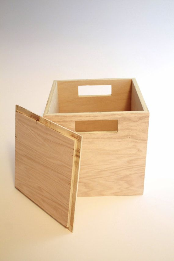 Wooden Storage Box With Lid And Handles Playroom Box By TilnicBox