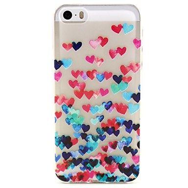 iPhone 5/5S iPhone - Per retro - per Design/Transparente/Altro/Innovativa/Romantica/Floreale ( Rosso/Blu/Rosa/Multicolore , TPU ) – EUR € 1.99