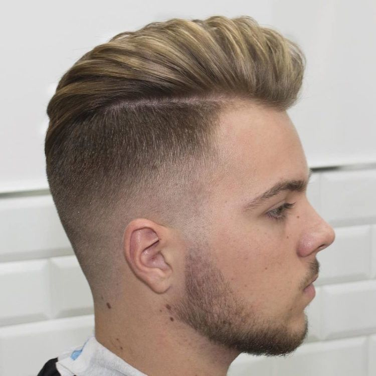 2016 Menu0027s Hairstyles   Disconnected High Fade + Long Hair Blown Dry