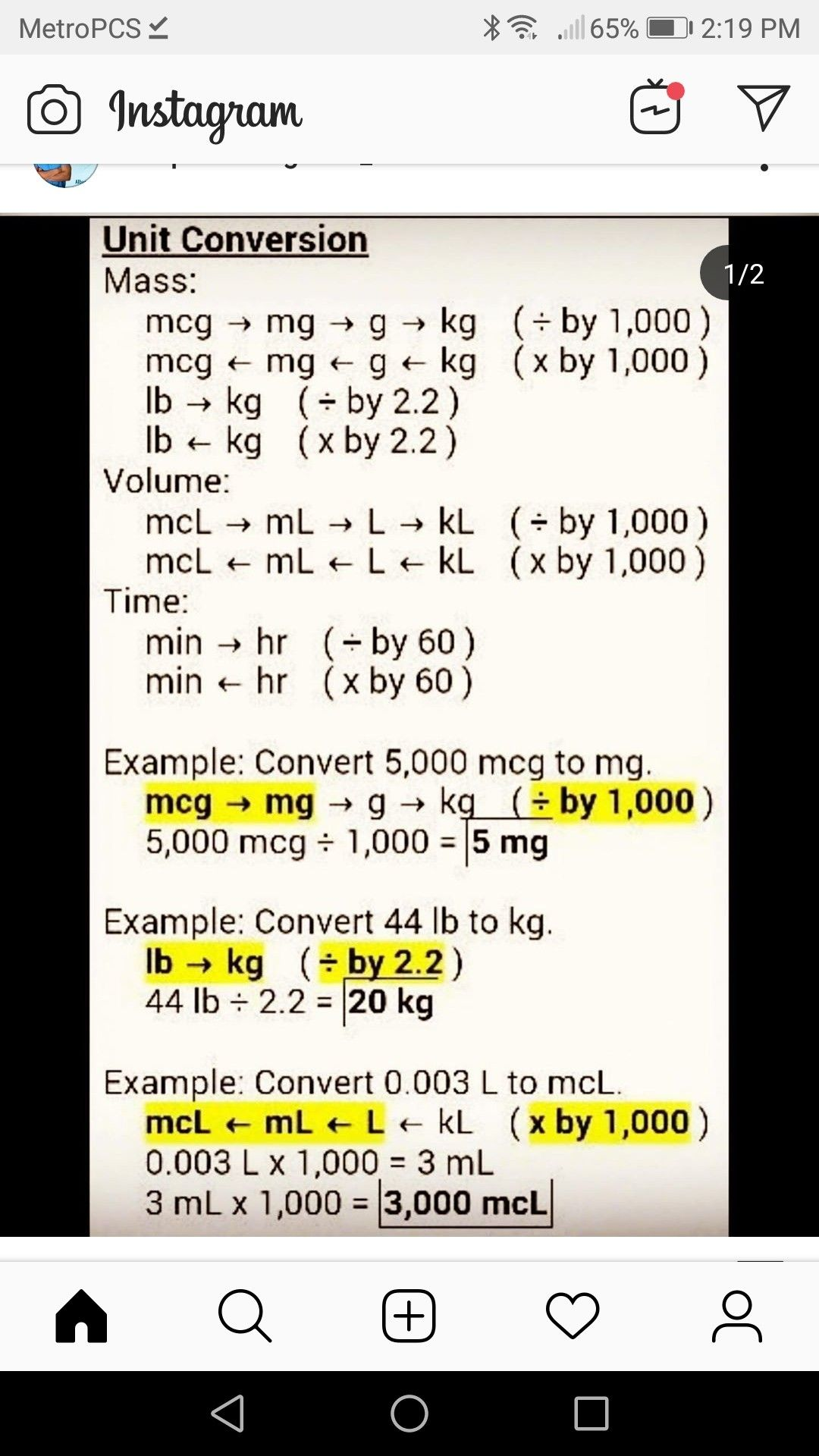 Math Conversions For Drug Calcs