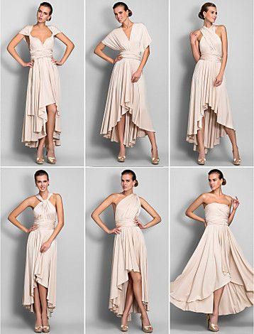Best bridesmaids dress ever! Sheath/Column Asymmetrical Jersey ...