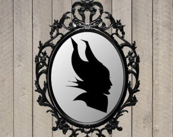 maleficent silhouette maleficent party decor disney
