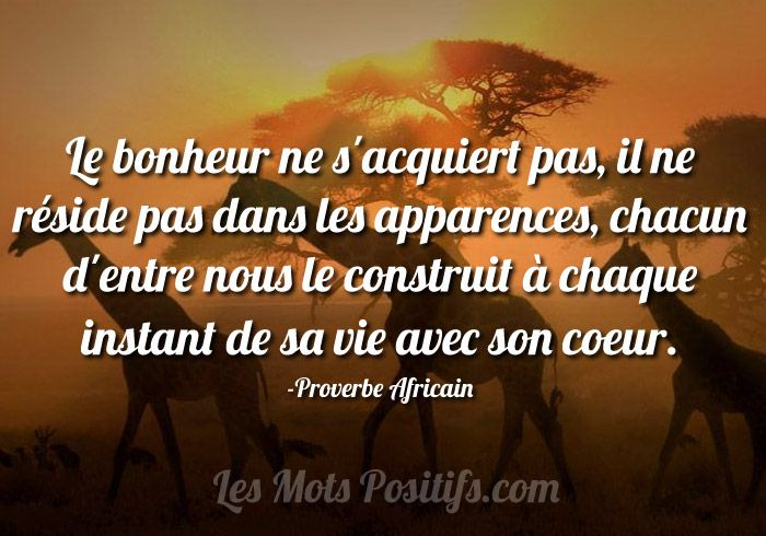 proverbe africain sur le bonheur discover best ideas about quote citation. Black Bedroom Furniture Sets. Home Design Ideas