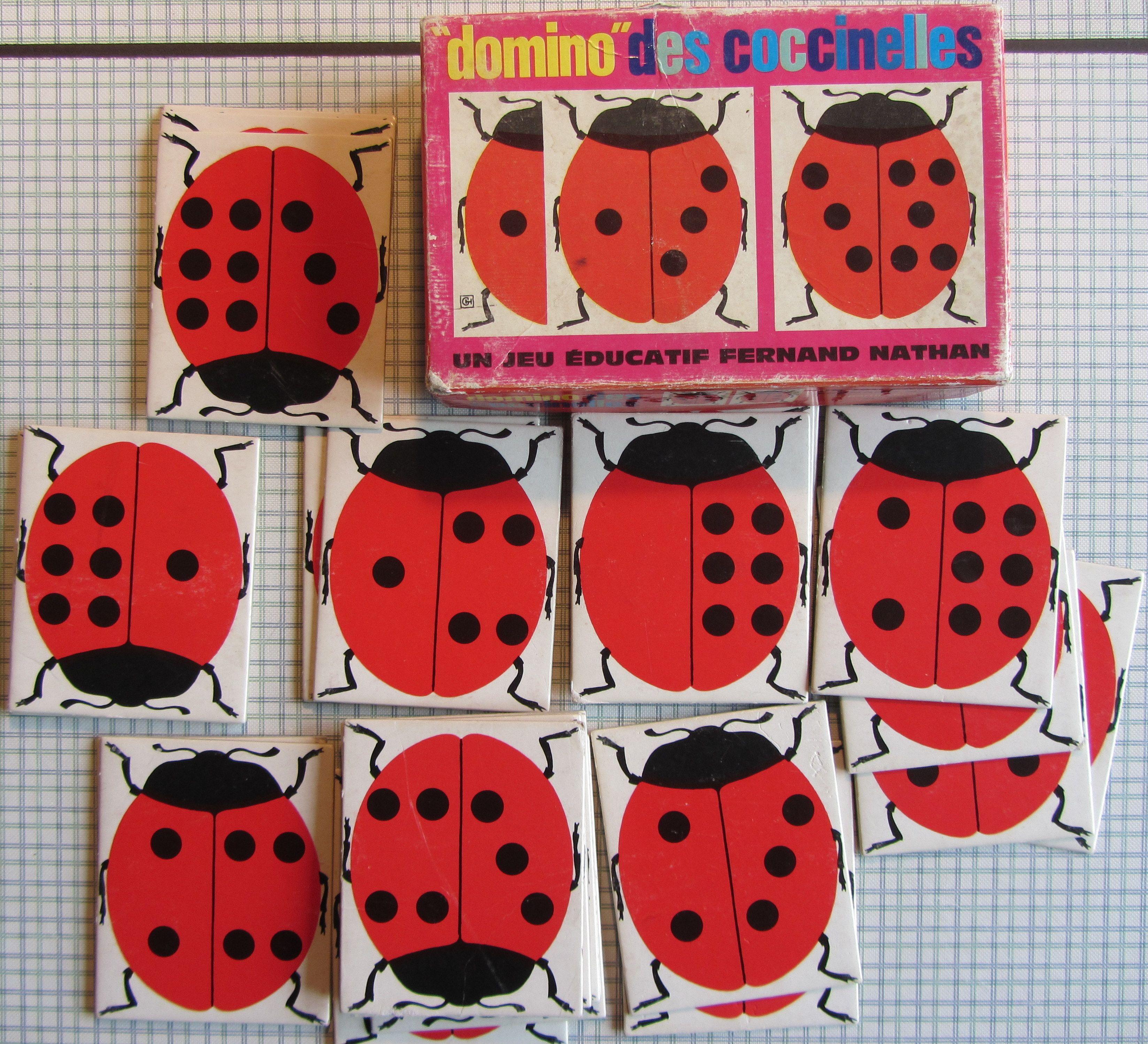 domino des coccinelles fernand nathan jeux eacute ducatifs vintage domino des coccinelles fernand nathan