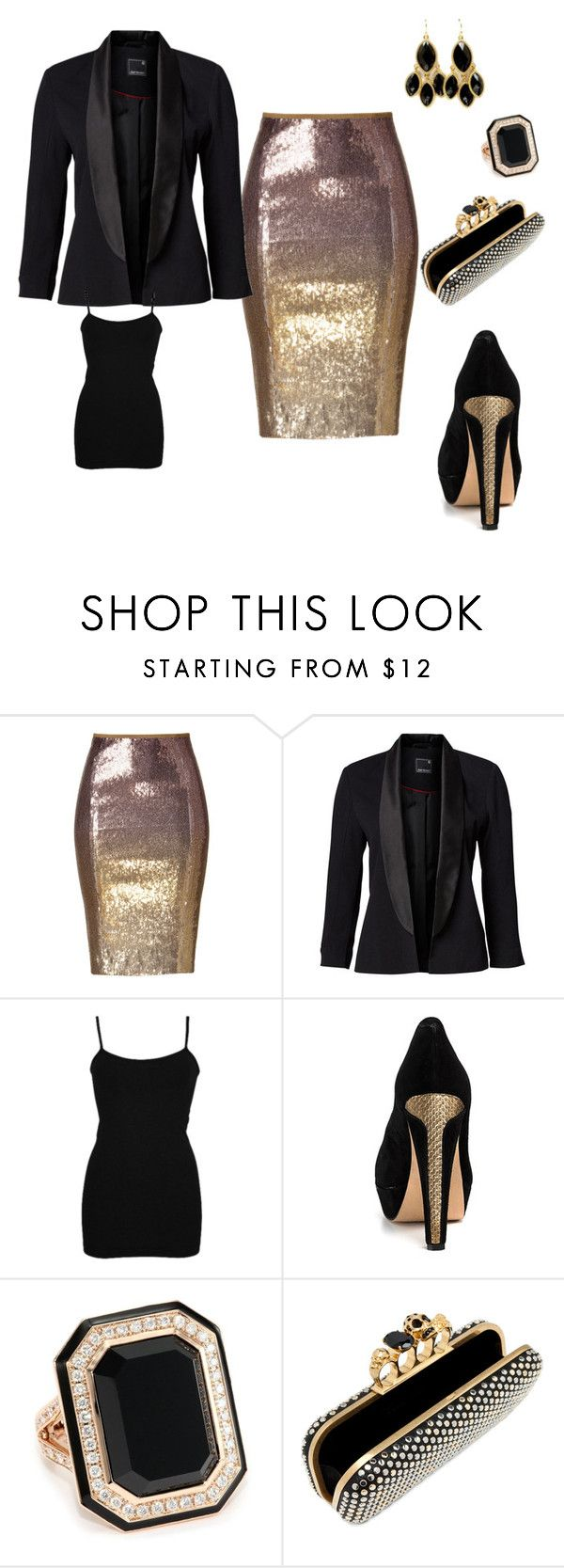 """""""Style 8"""" by shannon-legrand ❤ liked on Polyvore featuring Donna Karan, BKE core, House of Harlow 1960, Ivanka Trump, Alexander McQueen and Fantasy Jewelry Box"""