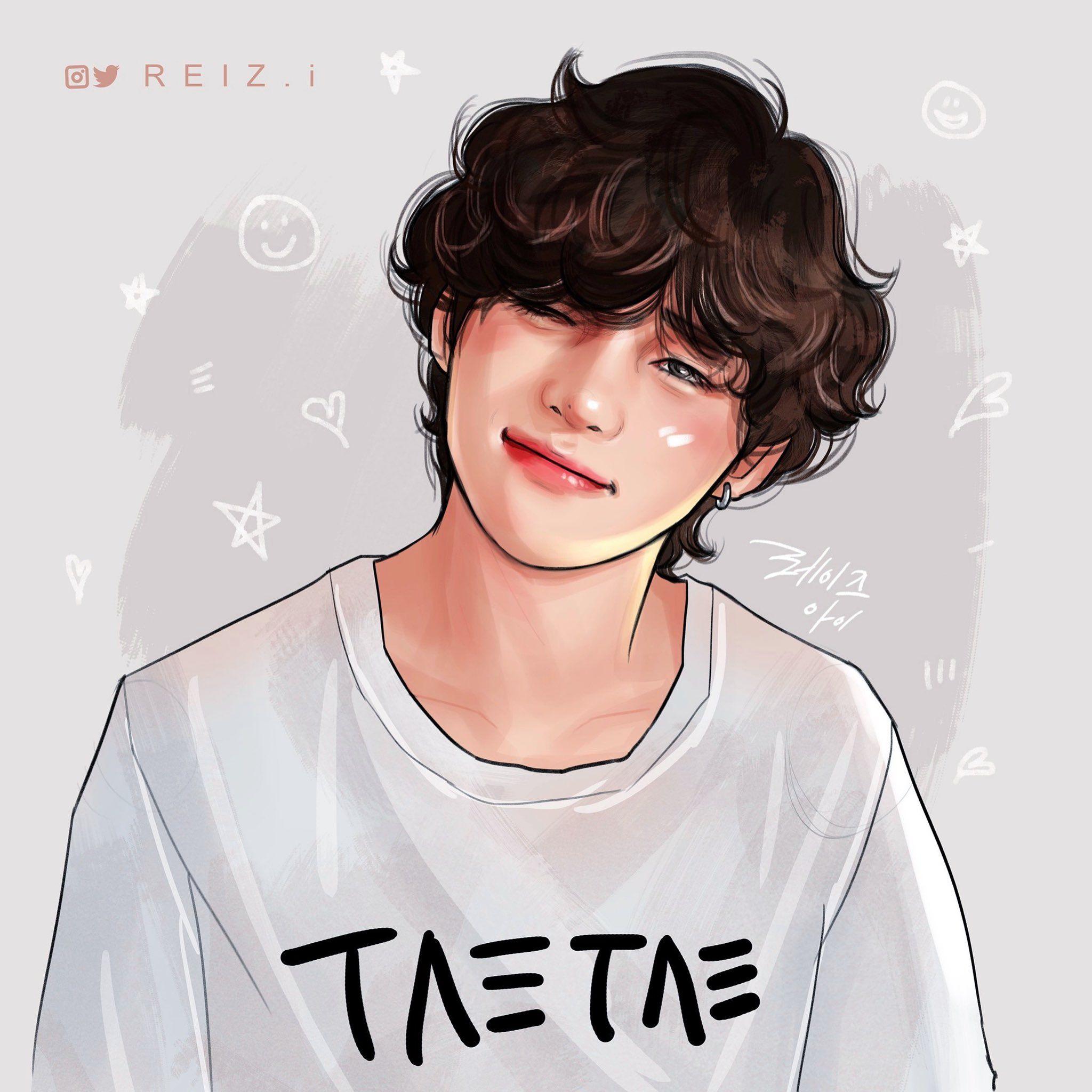 Reiz I On Twitter In 2020 Bts Drawings Bts Fanart Taehyung Fanart