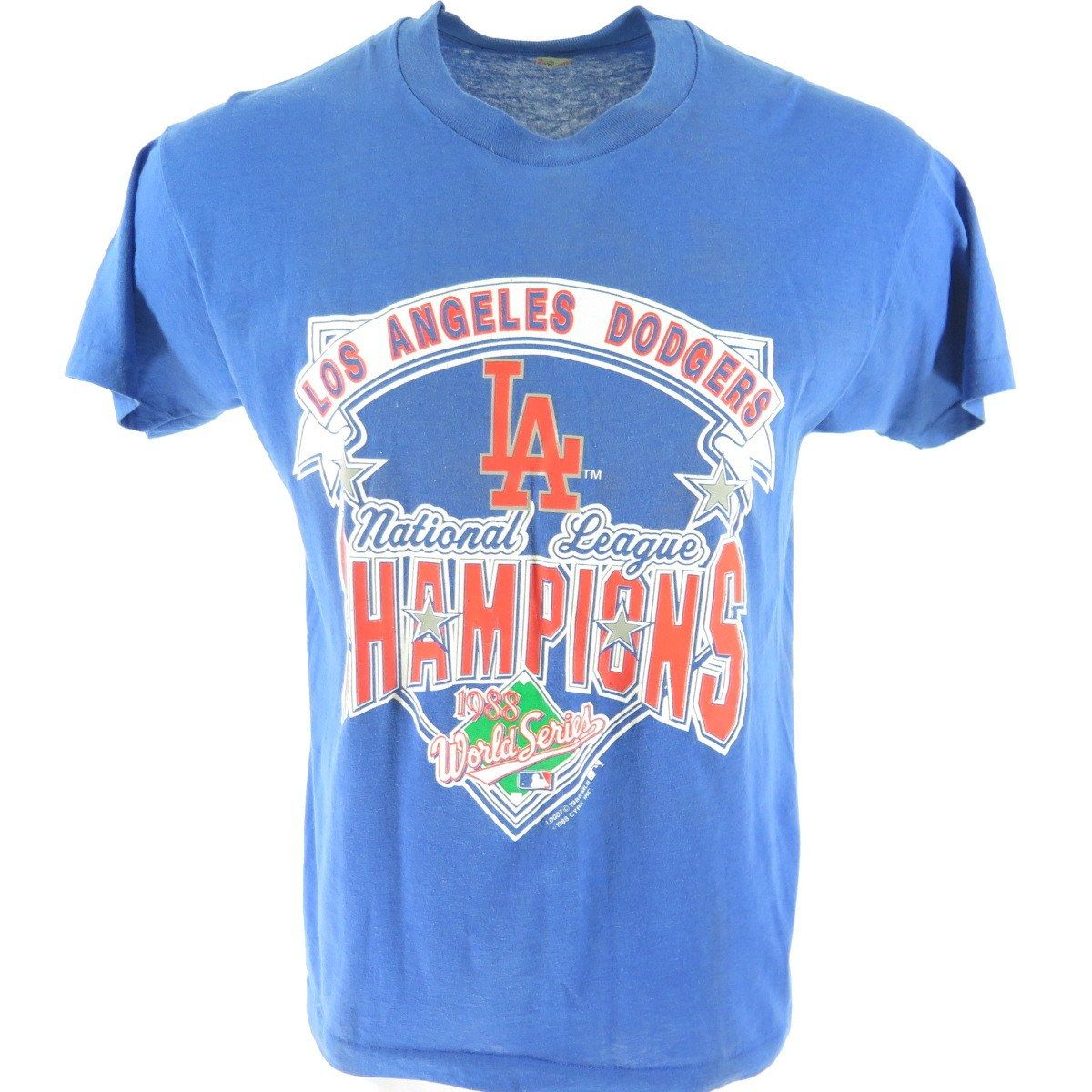 40c27869ce9 Celebrate the Los Angeles Dodgers with this authentic 1988 World Series  50 50 t-shirt!