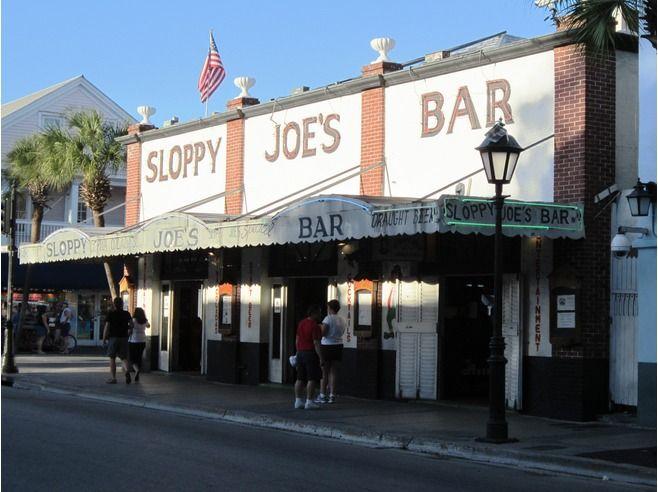 Sloppy Joe's Bar on Duval Street in Key West, FL.  It was a favored watering hole of Ernest Hemingway.