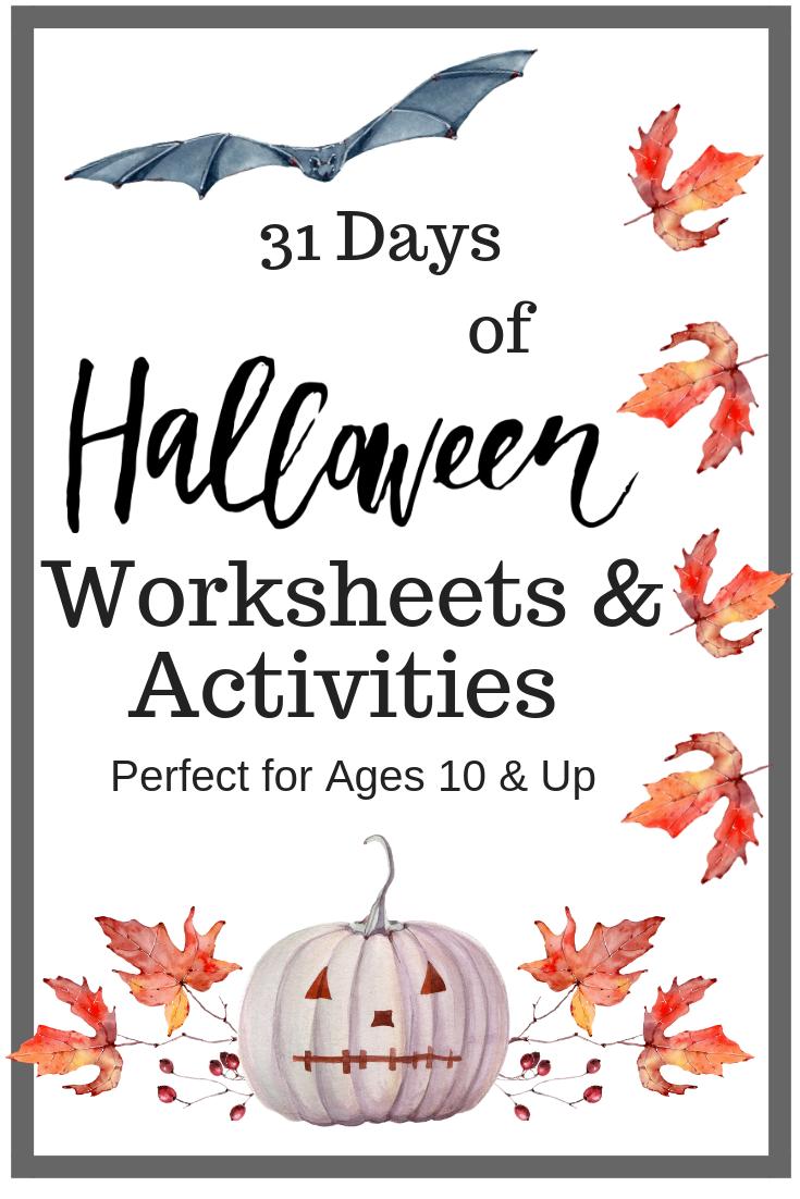 - Halloween Worksheets & Activities For Older Kids FREE Halloween