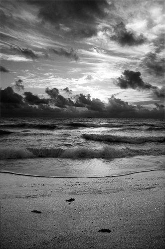 Landscape Photography Sunrise At Beach Black And White Black And White Landscape Beach Photography Black And White Beach