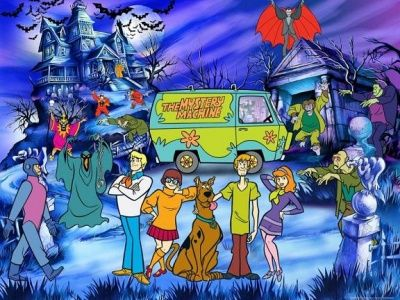 scooby doo wallpaper mural (click to view)