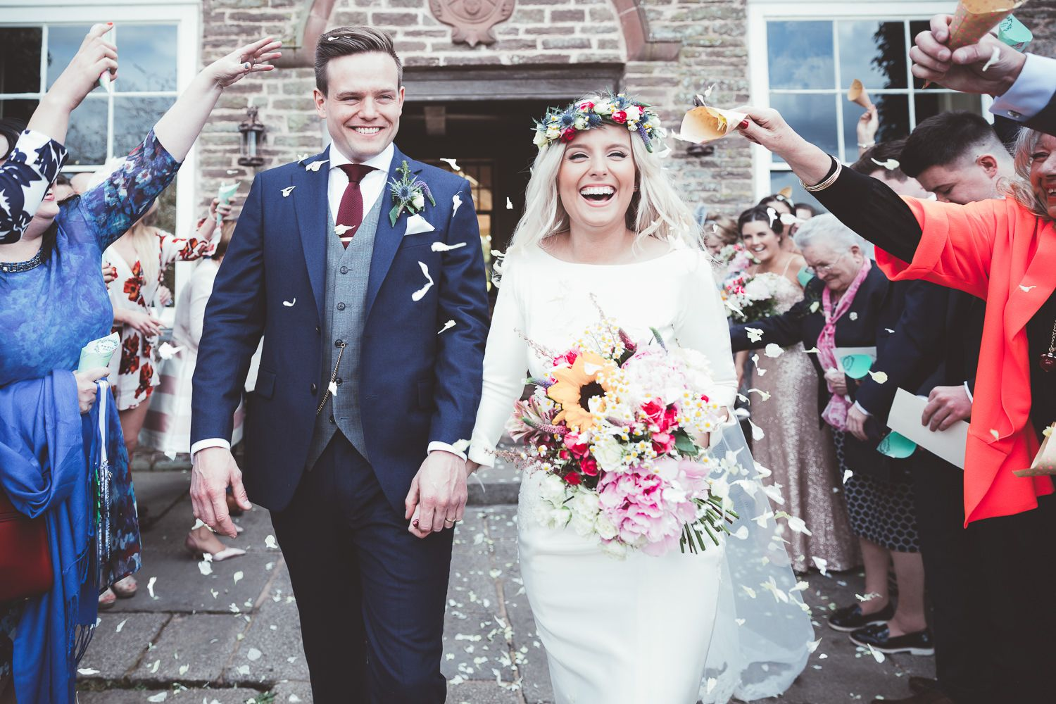 Deswell Court Rustic Barn Wedding with Bright Flowers & Gold BM ...