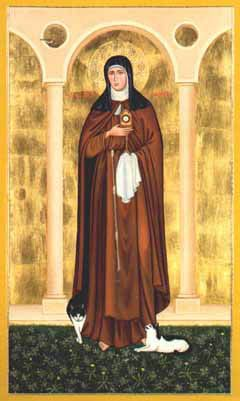 St Clare Of Assisi Icon By Terrance Nelson Sao Francisco