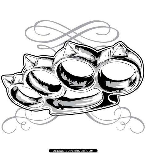 brass knuckle vector chicano pinterest brass knuckles tattoo rh pinterest com au Brass Knuckle Grenade Design 3D Printed Grenade