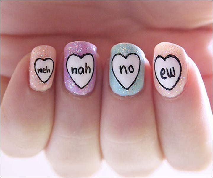 26 Refreshingly Different Valentines Nail Art Ideas To Set His