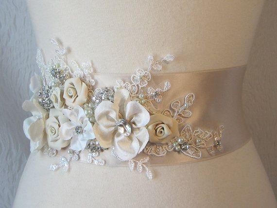 Cinturón para vestido de Novia , damas de honor, primera comunión ...