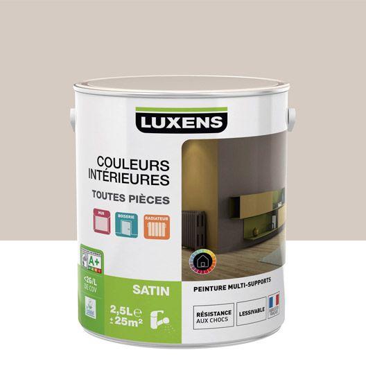 Peinture multisupports Couleurs intérieures satin LUXENS, gris doré